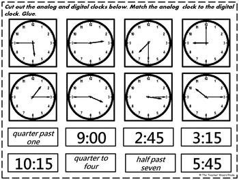 printable clock matching game 459 best images about at school on pinterest activities