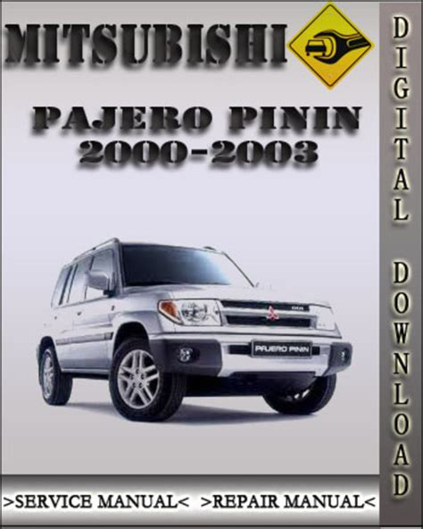 auto manual repair 1997 mitsubishi pajero engine control 2000 2003 mitsubishi pajero pinin factory service repair manual 200