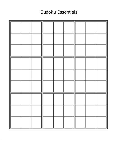 sudoku template sudoku blank worksheets letravideoclip