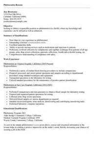 phlebotomy resume sample no experience example good resume template