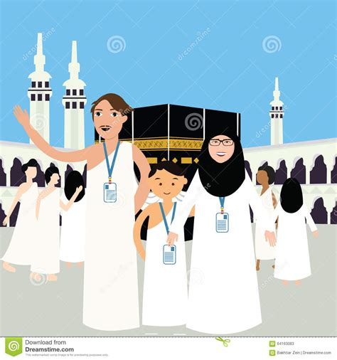 ihram cartoons illustrations vector stock images