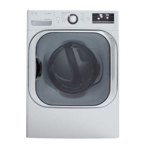 lg electronics 9 0 cu ft electric dryer with steam in white