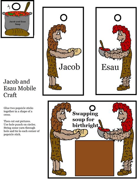 jacob and esau crafts for free coloring pages of esau bible story