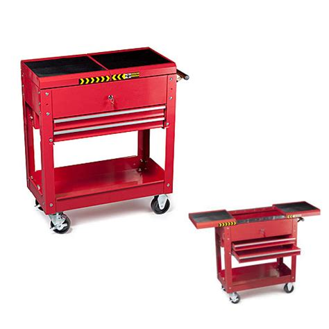 2 drawer tool cart steel 28 x 14 x 27 75 inches