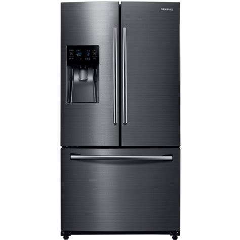 stainless steel appliances samsung stainless steel samsung 24 6 cu ft french door refrigerator in black