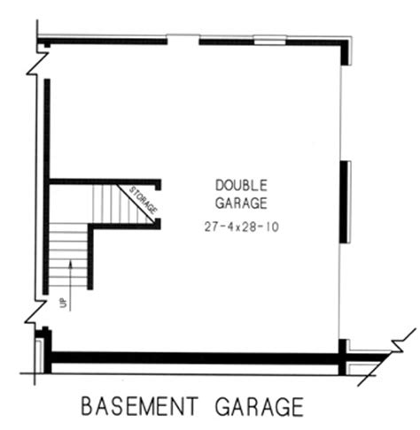 basement garage plans country house plan with 4 bedrooms and 2 5 baths plan 7758