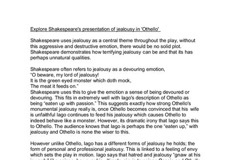 Othello As A Tragic Essay by Thesis Papers On Othello