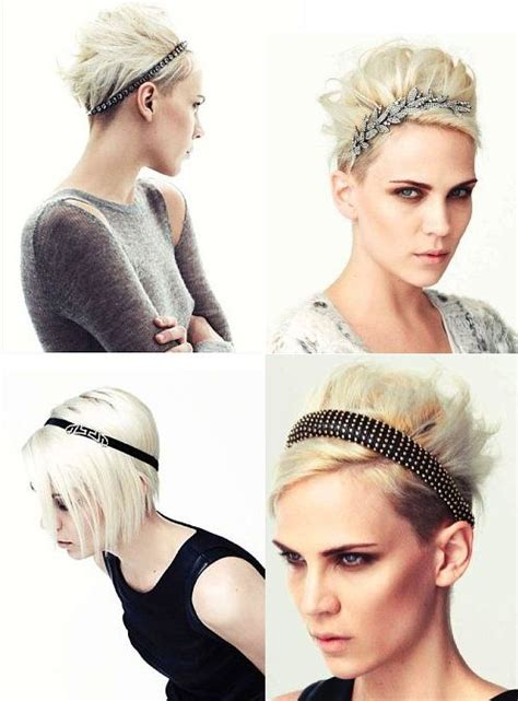 different ways to style a short aline mollie sue all headbands by jennifer behr platinum bob