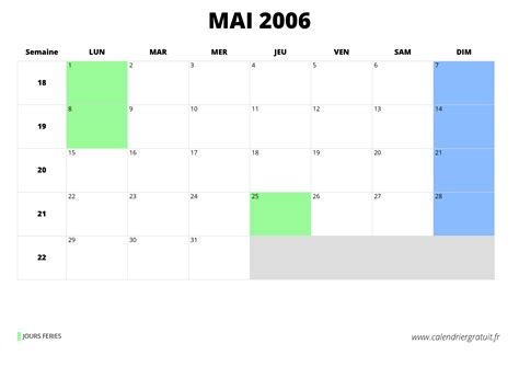 Calendrier Mai 2006 Calendrier De Mai 2006 224 Imprimer