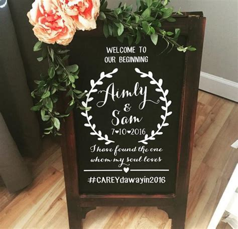 Welcome Wedding Chalk Board Sign // Wedding Chalk Board