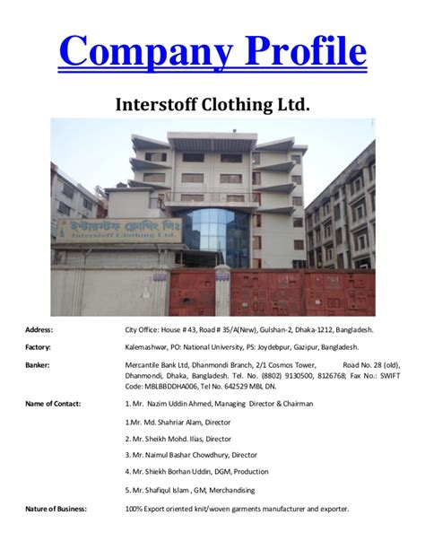 st knits corporate office address interstoff company profile