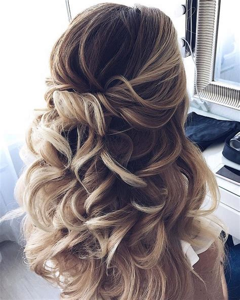 down updo hairstyles half up half down waves hairstyle partial updo wedding