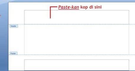 cara membuat kop surat di atas top margin membuat dan mencetak amplop kop di ms word tips dan trik