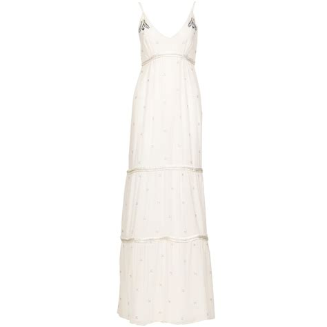 Dress Pueple Siara white ring front jersey maxi dress trendy clothes