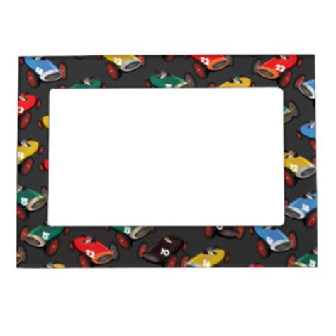 race car magnetic picture frames zazzle