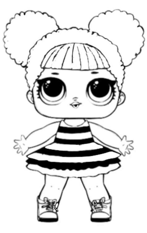 diy molde boneca lol colorir desenhos infantis