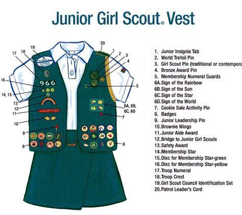 scout junior sash diagram scout vest