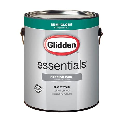 is home depot paint quality glidden essentials 1 gal white semi gloss interior paint