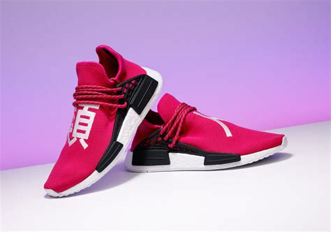stadium goods pharrell adidas nmd shock pink auction for aclu sneakernews