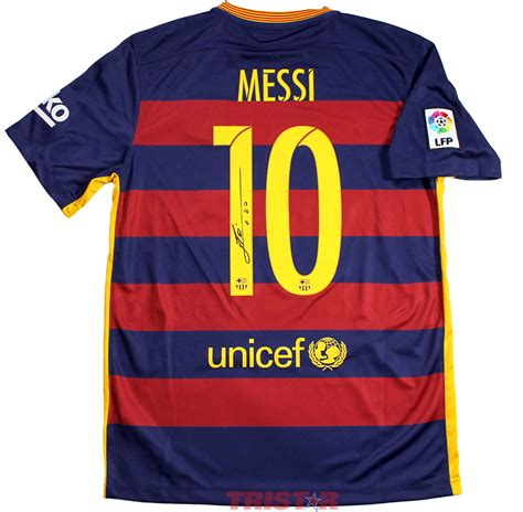 Jersey Barcelona Home 1113 lionel messi autographed barcelona nike authentic jersey