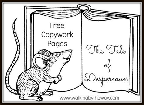 the tale of despereaux book report worksheet for std 2nd coloring pages