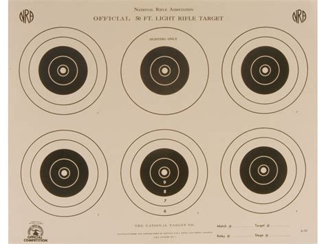 printable targets midway nra official smallbore rifle targets a 32 50 light rifle
