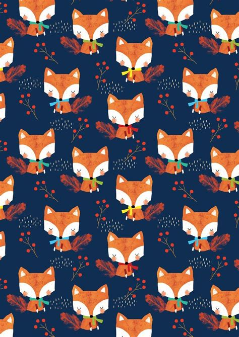 Fox Pattern Pinterest | alex willmore alternative version of autumn fox pattern