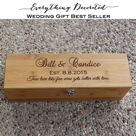Wedding Wine Box Gift by Wedding Gift Engraved Wine Box Bamboo Wine By