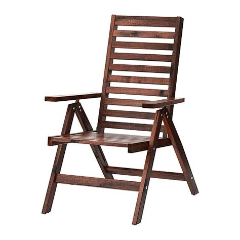 Outdoor Chairs Ikea 196 pplar 214 reclining chair outdoor foldable brown stained ikea