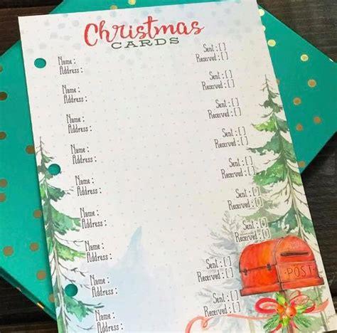 december   christmas card  gift list printables cocoa daisy