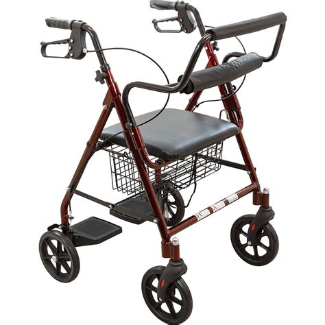 rollator with seat roscoe transport rollator with padded seat rollators