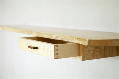 creative diy wood floating wall shelf with drawer for