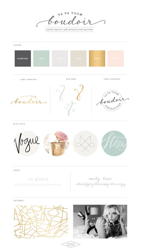 sophisticated colors sophisticated beauty va va voom boudoir logo design