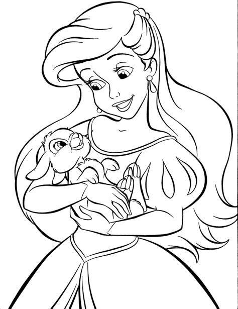 Princess Ariel Coloring Page Coloring Home Princess Ariel Color Pages Printable