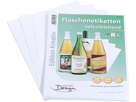 Your Design Flaschenetiketten Vorlage Your Design 128 Inkjet Flaschenetiketten 10x13 Cm Naturwei 223 Wischfest