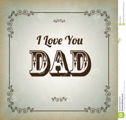 I Love Vintage love you dad royalty free stock images image 30774319