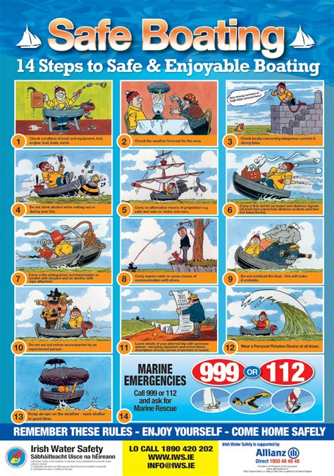 boat safety rules water safety cartoons lovetoknow