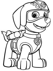 zuma paw patrol coloring coloring pages