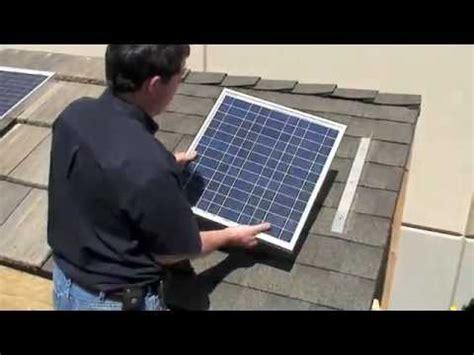 diy rooftop solar diy solar panel install shingle roof free power high powered solar system