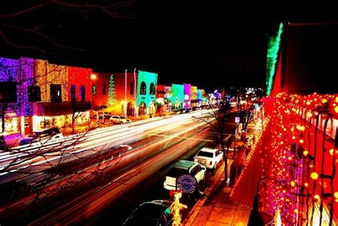 festive lights in downtown rochester mi michigan