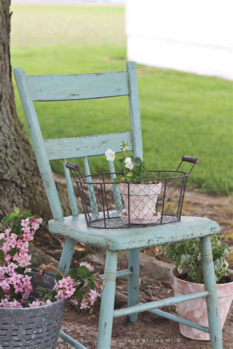 Painted Chair For Outdoors Love Grows Wild Painted Outdoor Furniture