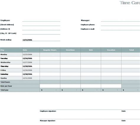 excel 2010 time card template employee time card template 28 images 5 best images of