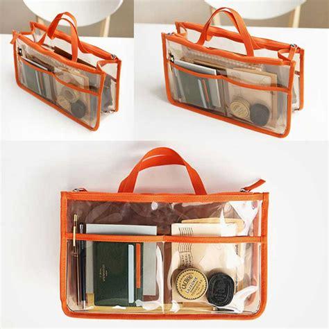 Dual Bag In Bag Organizer Diskon travel pvc transparent zipper storage bag insert handbag