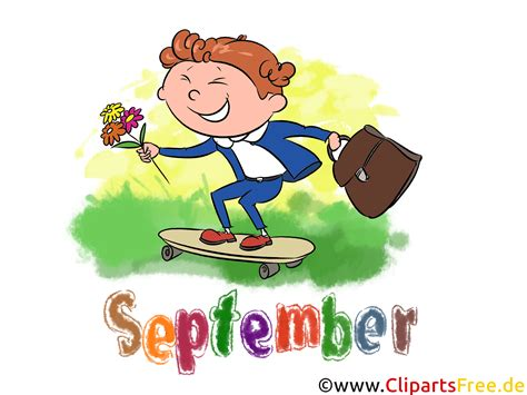 clipart on line september illustration month clip free