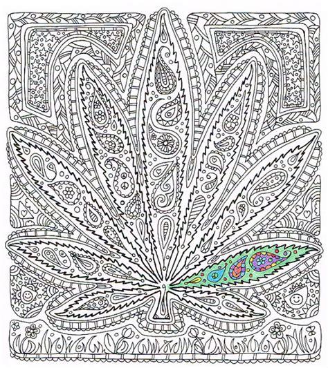Adult Coloring Page Got Leaf Printable Pot Leaf Coloring Trippy Pot Leaf Coloring Pages
