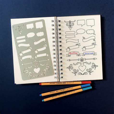 printable bullet journal stencils planner stencil bullet journal stencil banners stencil