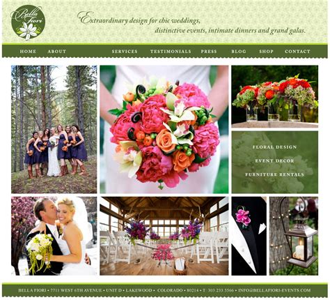 flower design website website design flirty fleurs the florist blog
