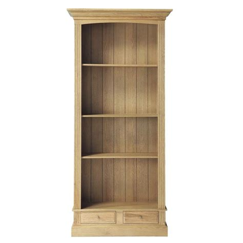 Solid Oak Bookcase Solid Oak Bookcase W 105cm Atelier Maisons Du Monde