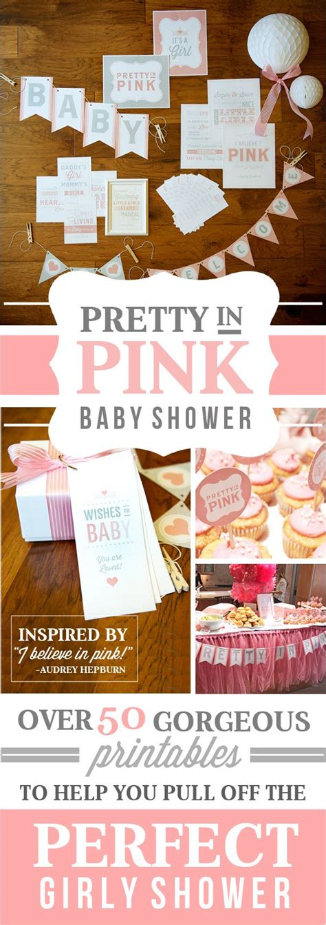 Pretty In Pink Baby Shower Theme by Pretty In Pink Baby Shower Theme Printables Pink Baby Showers And Baby Shower Themes