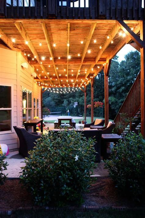 Swag Chainlink Decking Patios And Spaces Outdoor Patio Lighting Ideas